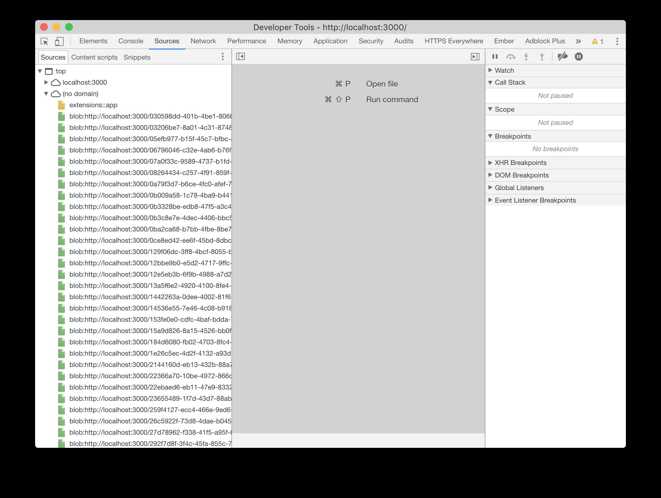 A long list of duplicate blob: URLs