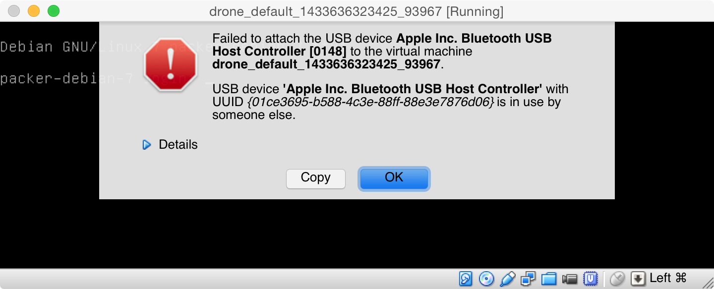 VirtualBox Cannot Attach Bluetooth